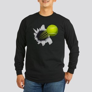 Tennis Ball Flying Out Of Hole Long Sleeve T-Shirt