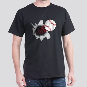 Baseball Flying Out Of Hole T-Shirt