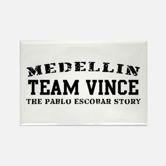 Team Vince - Medellin Rectangle Magnet