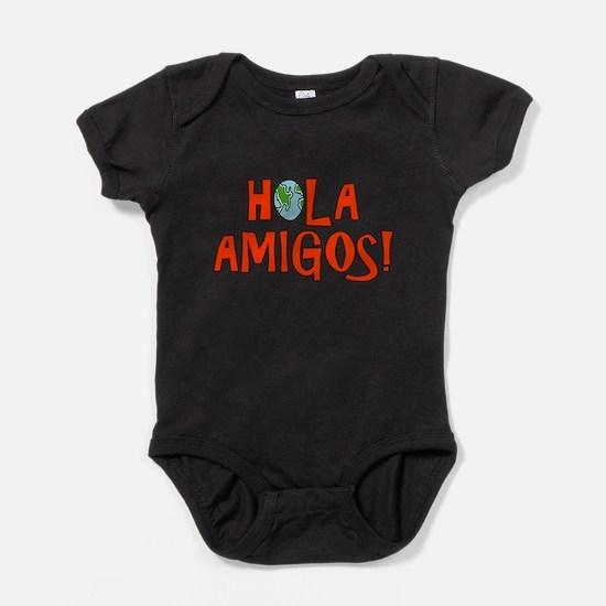 Cute El salvador and mexico Baby Bodysuit