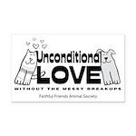 Unconditional Love Rectangle Car Magnet
