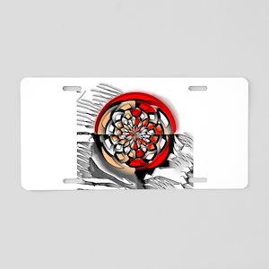 Sketchy art Aluminum License Plate