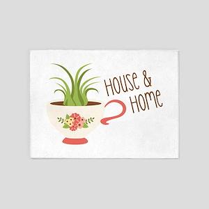 House & Home 5'x7'Area Rug