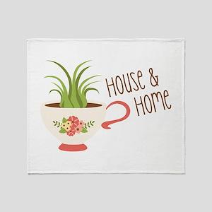 House & Home Throw Blanket
