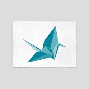 Origami Crane 5'x7'Area Rug