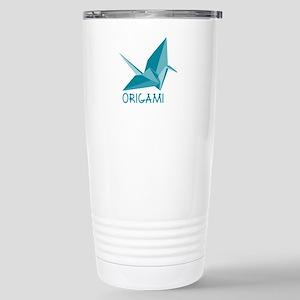 Origami Paper Crane Travel Mug