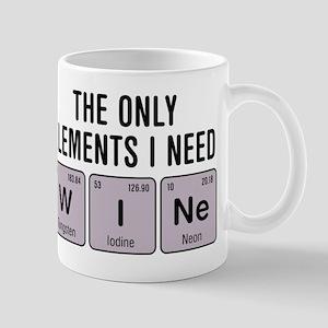 Wine Chemistry Elements Mugs