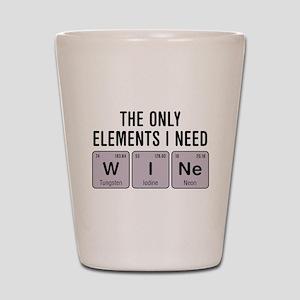 Wine Chemistry Elements Shot Glass