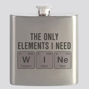 Wine Chemistry Elements Flask