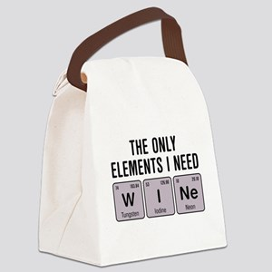 Wine Chemistry Elements Canvas Lunch Bag