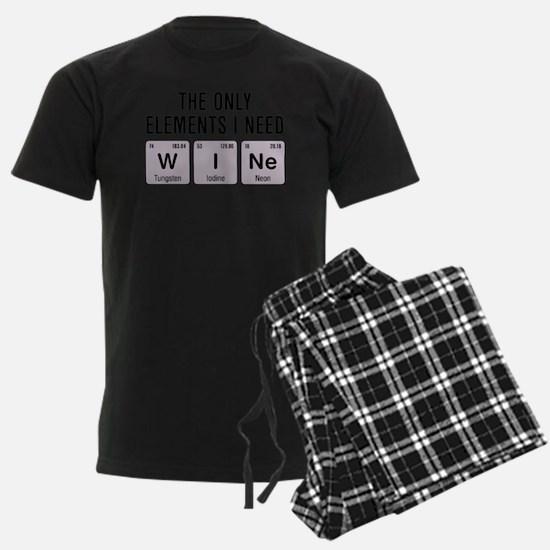 Wine Chemistry Elements Pajamas