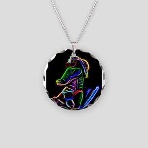 Neon Alligator Necklace