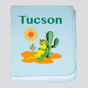 Tucson Lizard under Cactus baby blanket