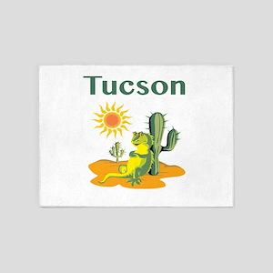 Tucson Lizard Under Cactus 5'x7'area Rug