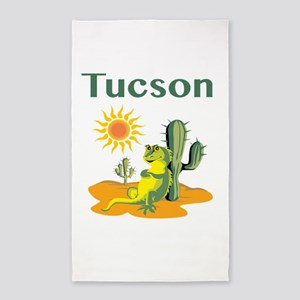 Tucson Lizard under Cactus Area Rug