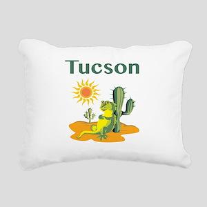 Tucson Lizard under Cactus Rectangular Canvas Pill