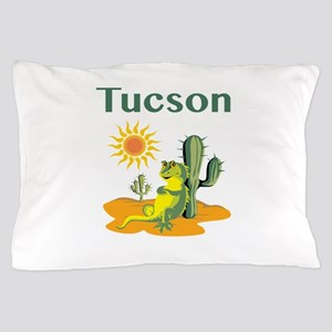 Tucson Lizard Under Cactus Pillow Case