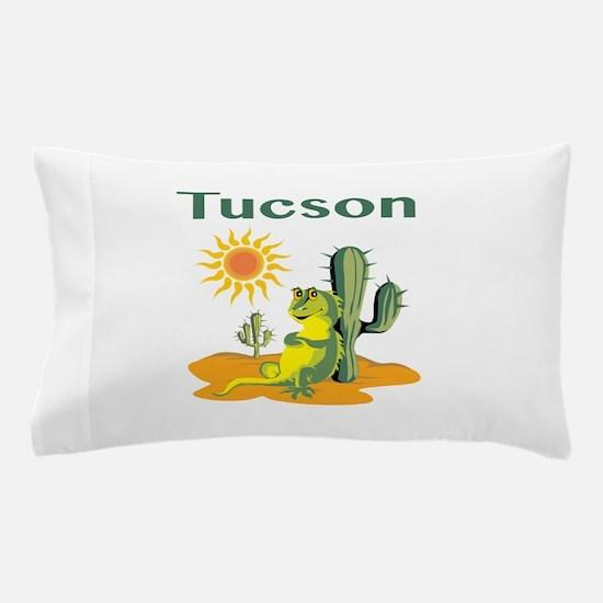 Tucson Lizard Under Cactus Pillow Case