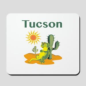 Tucson Lizard Under Cactus Mousepad