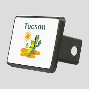 Tucson Lizard Under Cactus Rectangular Hitch Cover