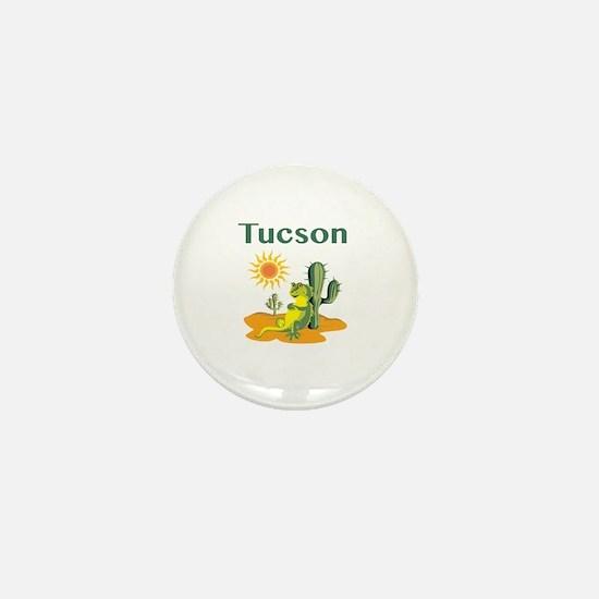 Tucson Lizard Under Cactus Mini Button