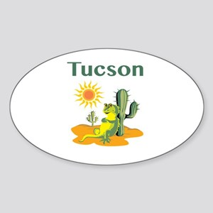 Tucson Lizard Under Cactus Sticker