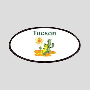 Tucson Lizard Under Cactus Patch