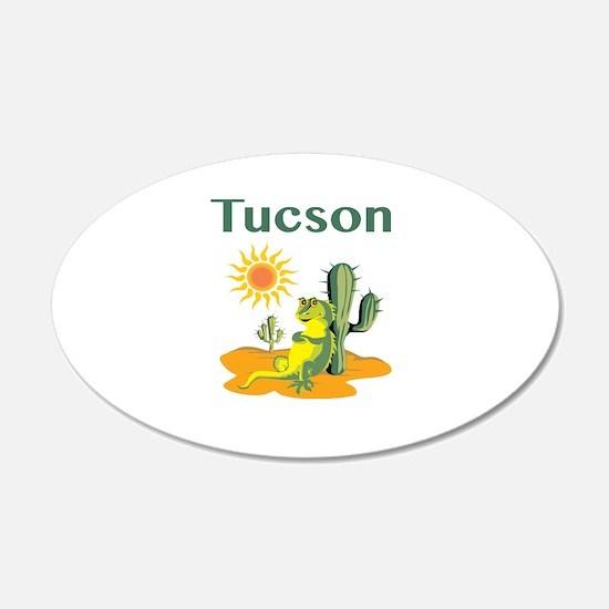 Tucson Lizard Under Cactus Wall Sticker