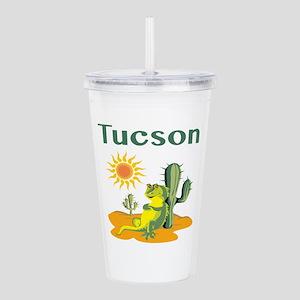 Tucson Lizard under Cactus Acrylic Double-wall Tum