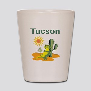Tucson Lizard under Cactus Shot Glass