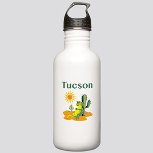 Tucson Lizard under Cactus Water Bottle