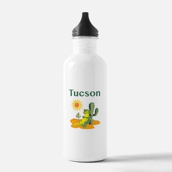 Tucson Lizard under Cactus Water Bottle