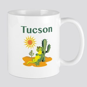 Tucson Lizard Under Cactus Mugs