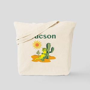 Tucson Lizard under Cactus Tote Bag