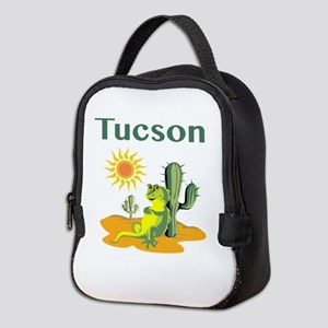 Tucson Lizard Under Cactus Neoprene Lunch Bag