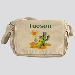 Tucson Lizard under Cactus Messenger Bag