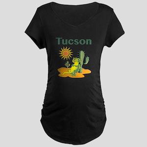 Tucson Lizard under Cactus Maternity T-Shirt
