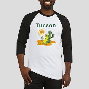 Tucson Lizard under Cactus Baseball Jersey