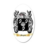 Megale 20x12 Oval Wall Decal
