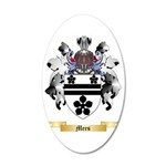 Mees 35x21 Oval Wall Decal