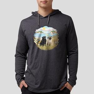 Row Boat-TwoPugs (F+B) Mens Hooded Shirt
