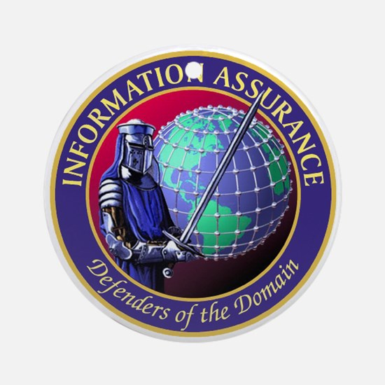 Information Assurance Round Ornament