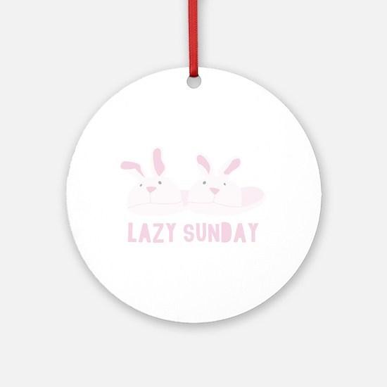 Lazy Sunday Round Ornament