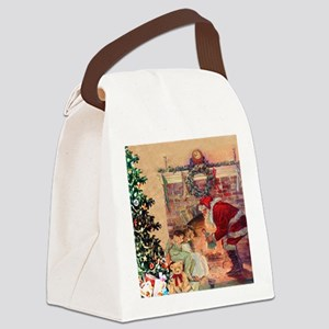 The Night Before Christmas Canvas Lunch Bag