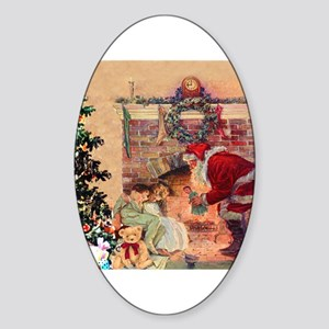 The Night Before Christmas Sticker (Oval)