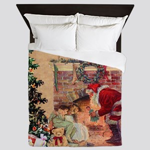 The Night Before Christmas Queen Duvet