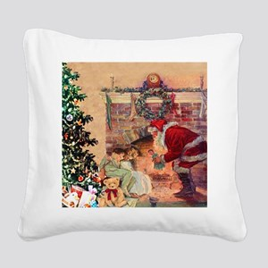 The Night Before Christmas Square Canvas Pillow