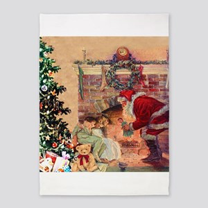 The Night Before Christmas 5'x7'Area Rug