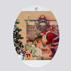 The Night Before Christmas Oval Ornament