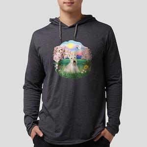 Blossoms - Scotty - Wheaten Mens Hooded Shirt